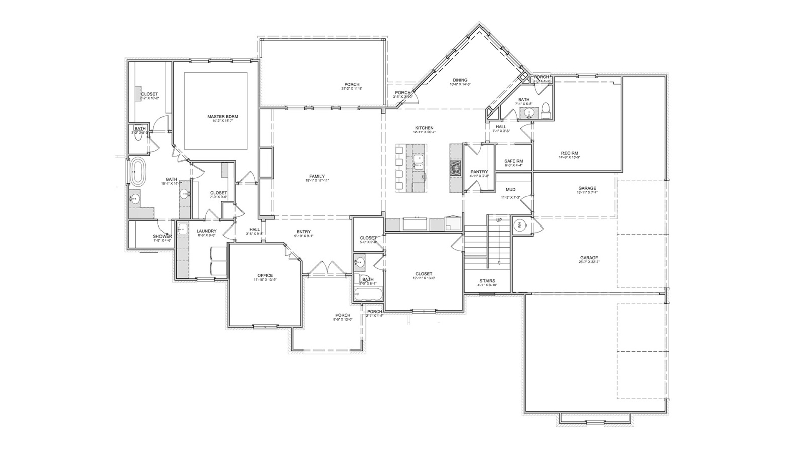 4 Bedrooms Bedrooms, ,5 BathroomsBathrooms,Custom Home,Home Plans,1022