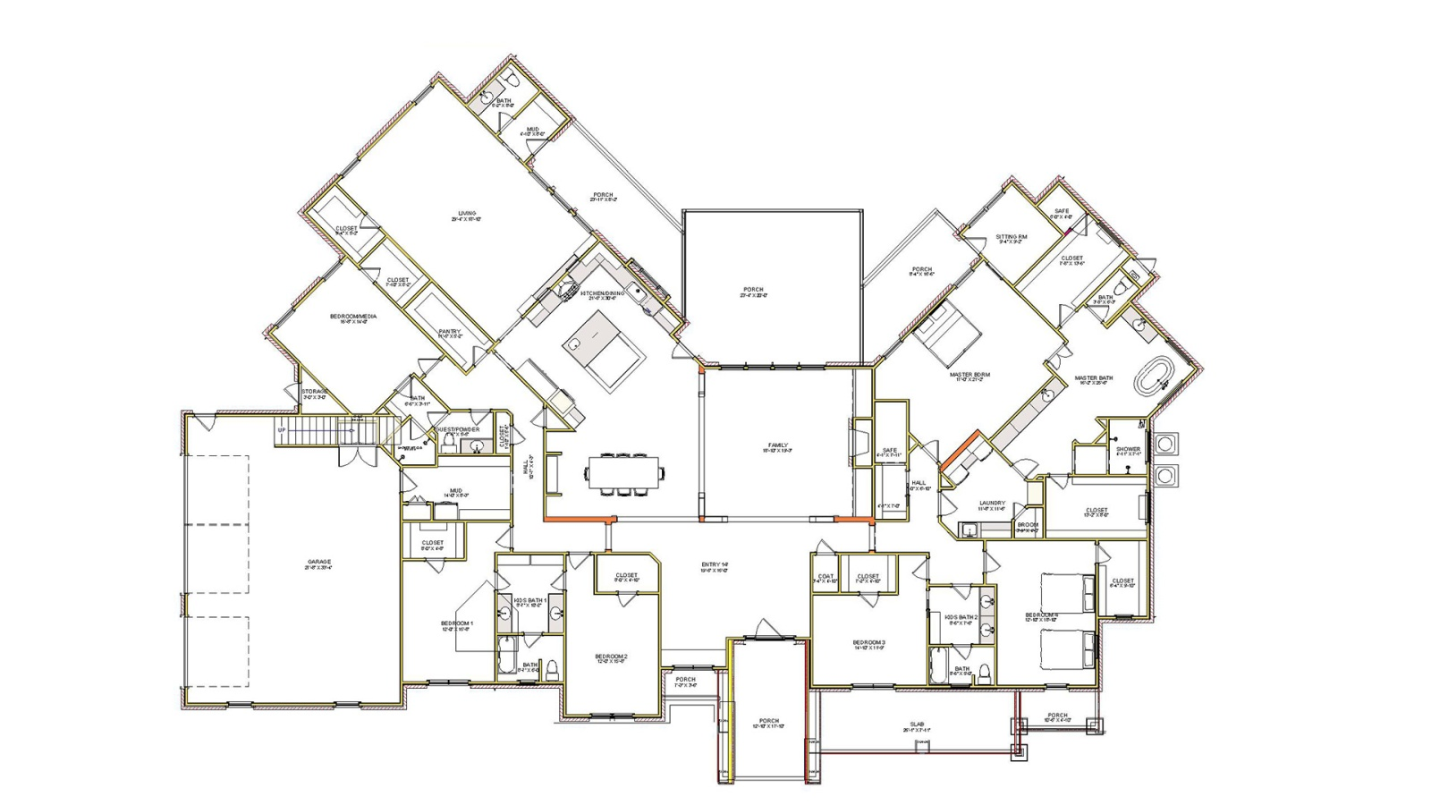 5 Bedrooms Bedrooms, ,5 BathroomsBathrooms,Custom Home,Featured Home Plans,1033