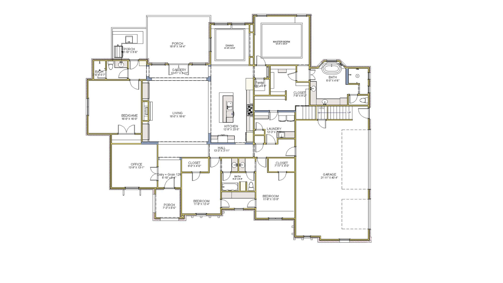 3 Bedrooms Bedrooms, ,3 BathroomsBathrooms,Custom Home,Home Plans,1036