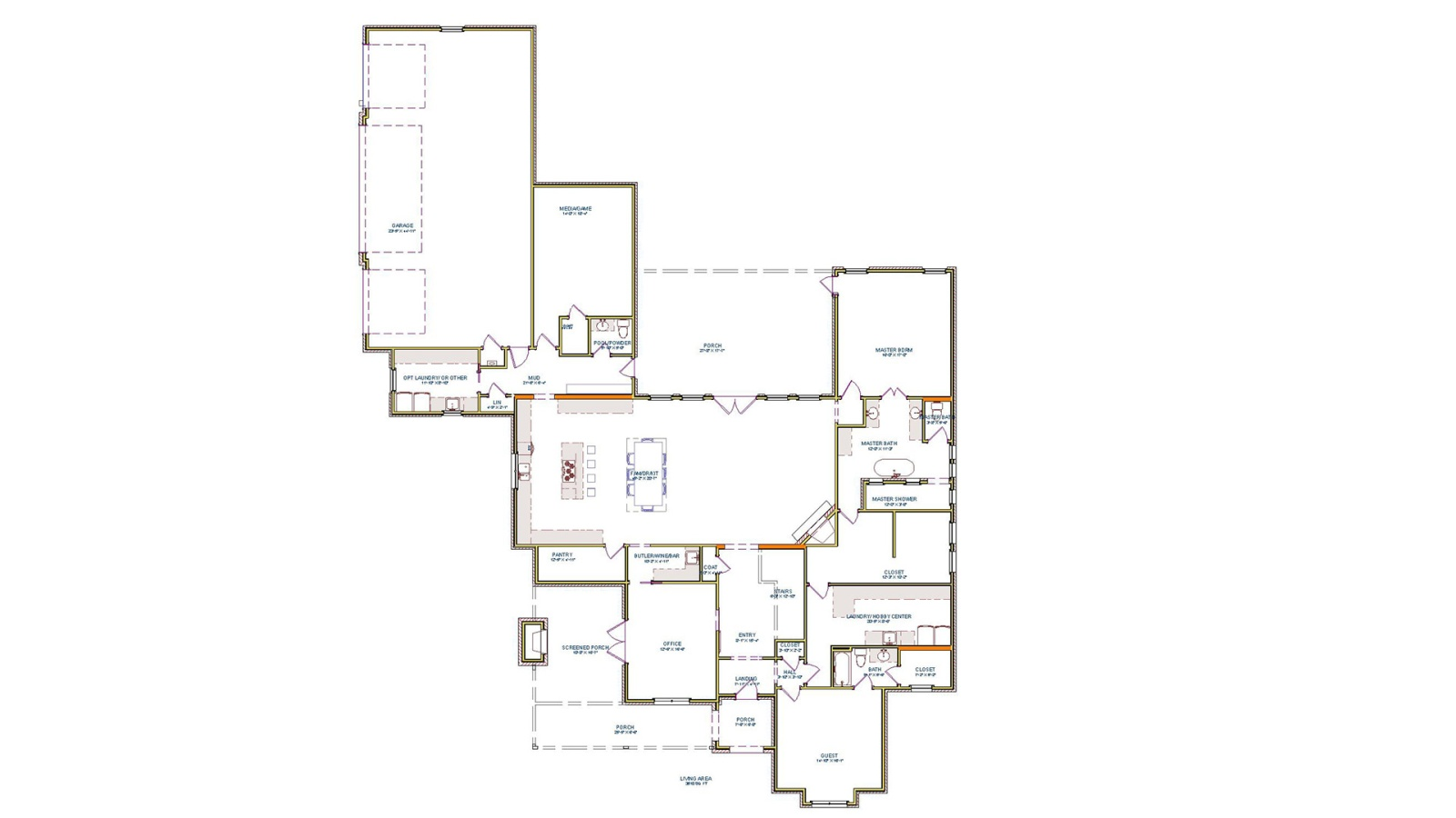 4 Bedrooms Bedrooms, ,5 BathroomsBathrooms,Custom Home,Home Plans,1041