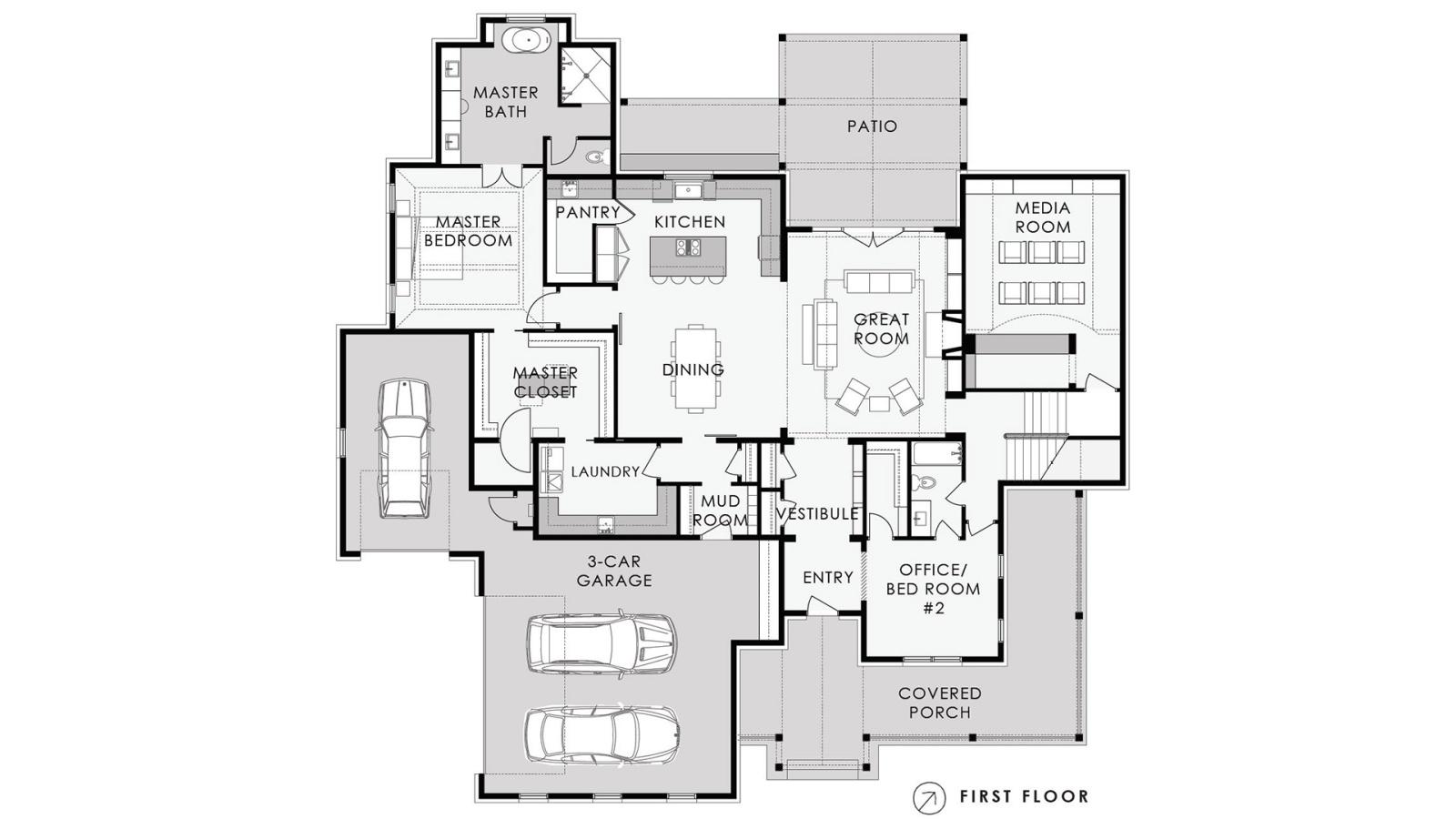3 Bedrooms Bedrooms, ,4 BathroomsBathrooms,Custom Home,Home Plans,1042