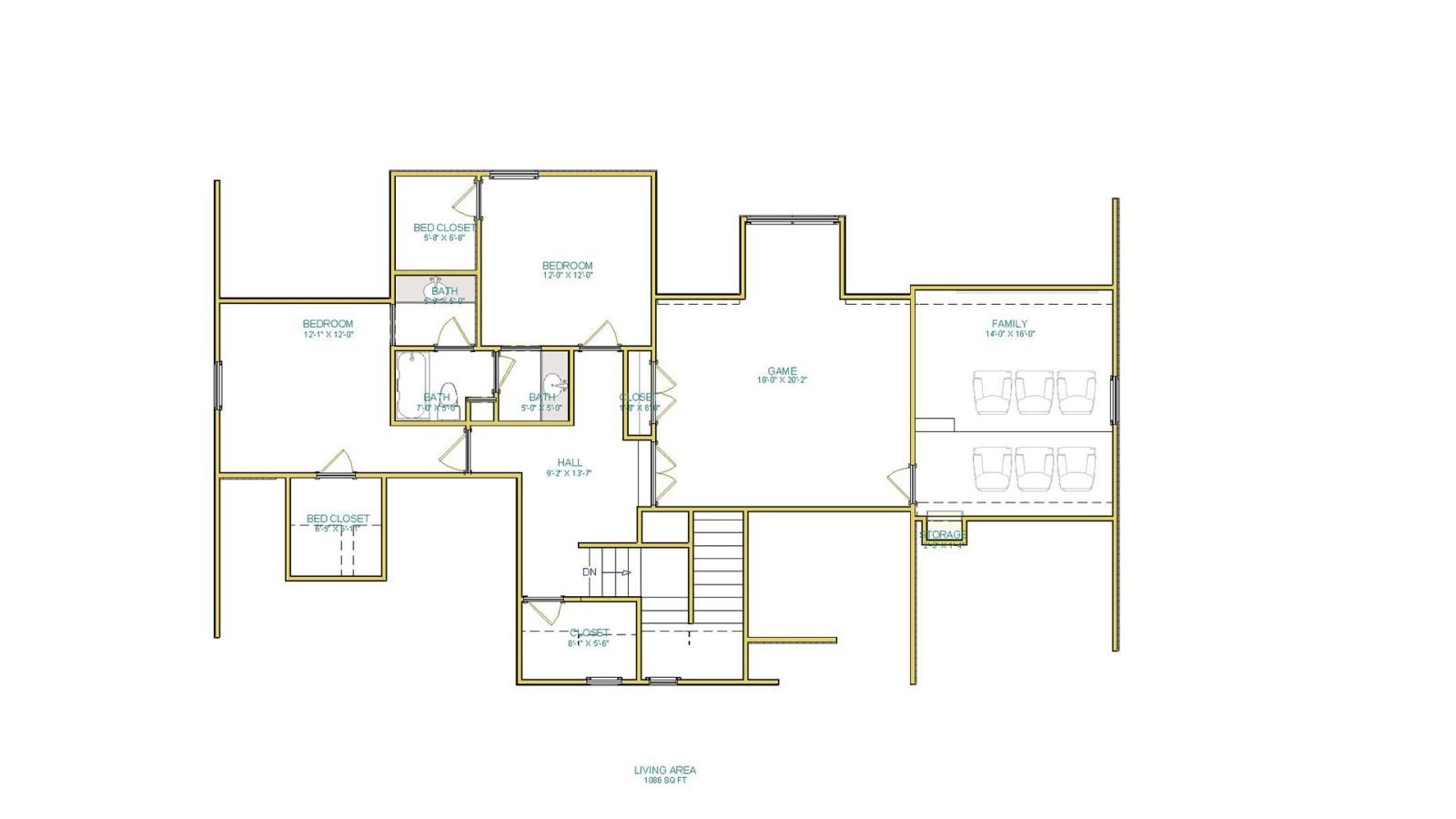 3 Bedrooms Bedrooms, ,3 BathroomsBathrooms,Custom Home,Home Plans,1051