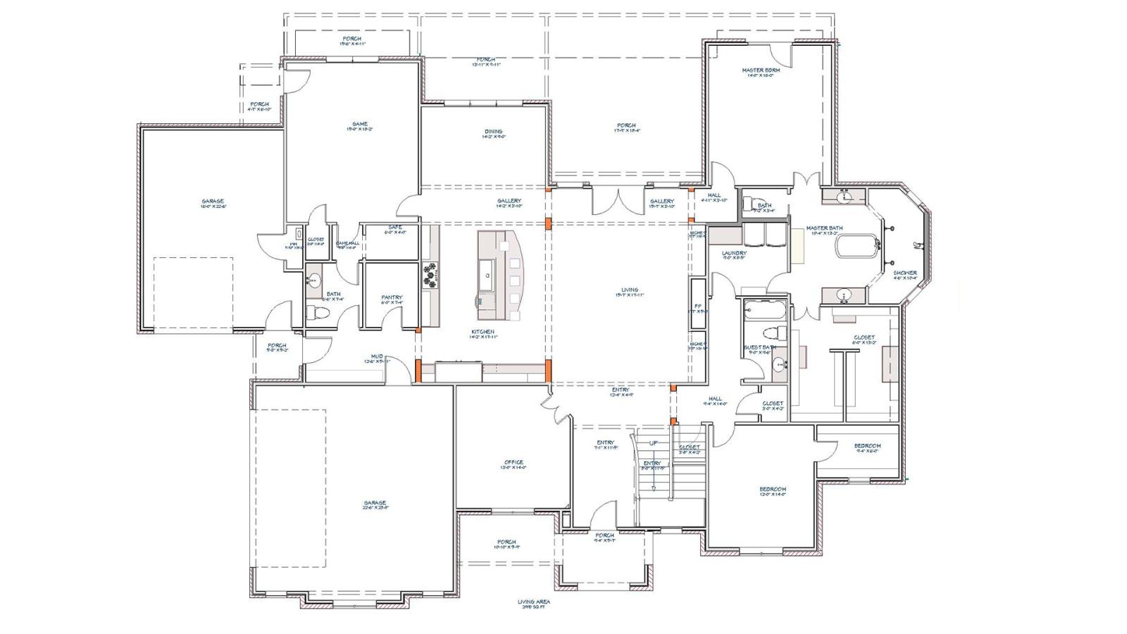 4 Bedrooms Bedrooms, ,5 BathroomsBathrooms,Custom Home,Home Plans,1055