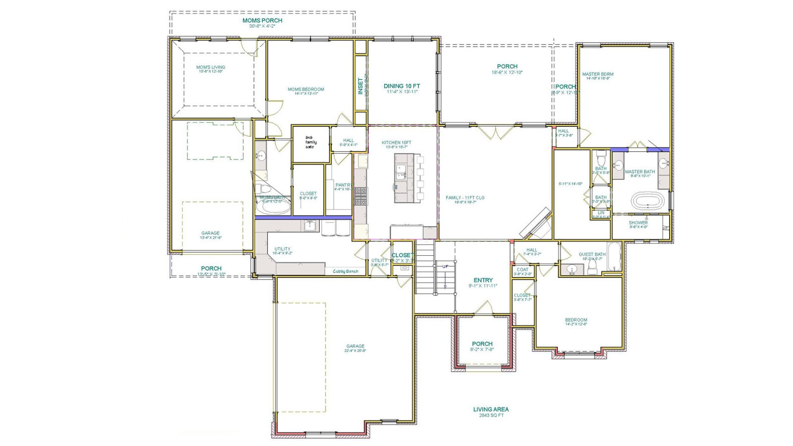5 Bedrooms Bedrooms, ,4 BathroomsBathrooms,Custom Home,Home Plans,1057