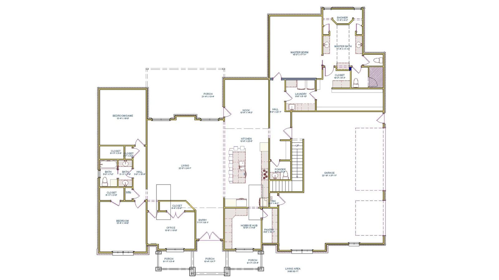 3 Bedrooms Bedrooms, ,3 BathroomsBathrooms,Custom Home,Home Plans,1058