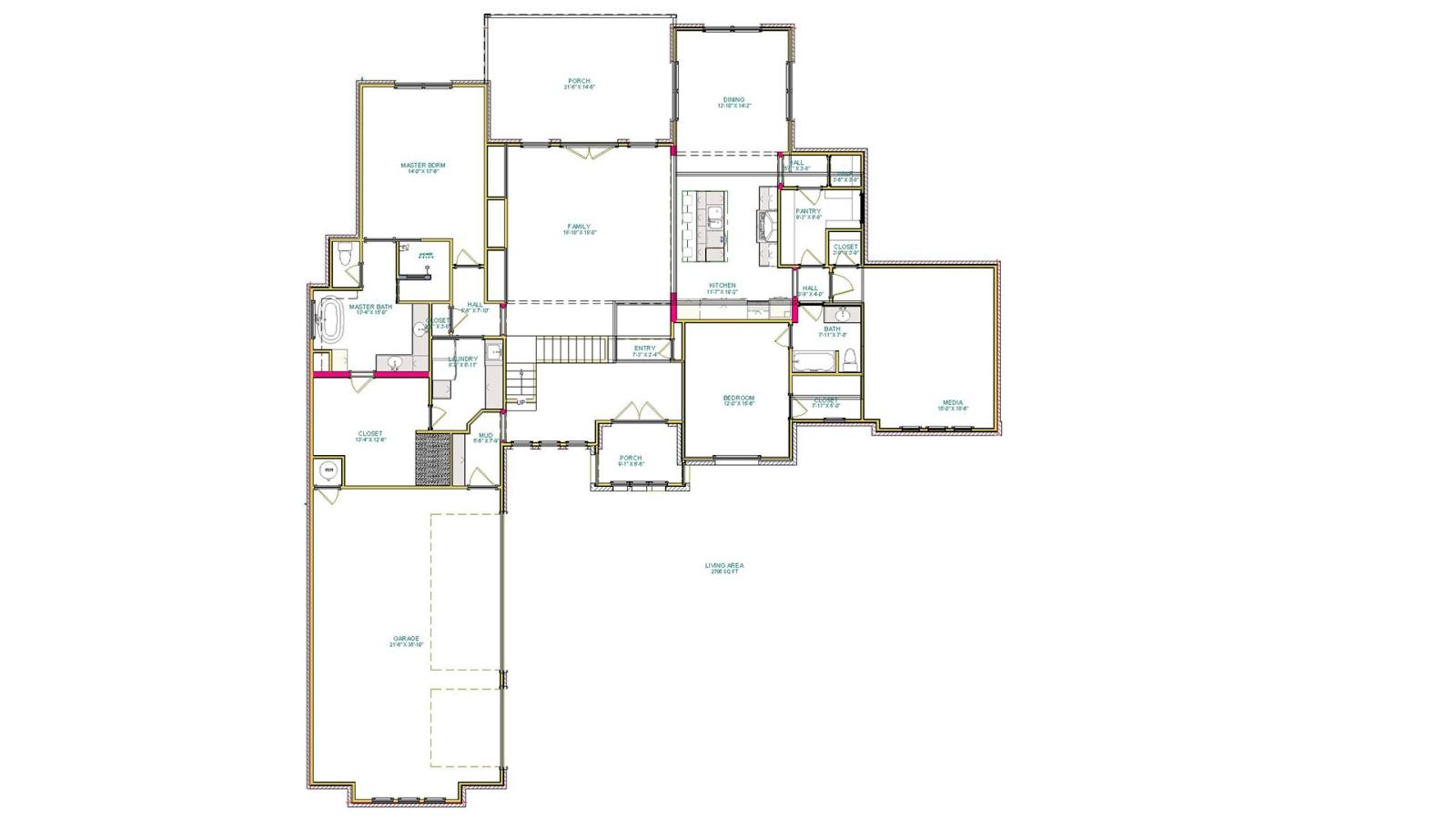 4 Bedrooms Bedrooms, ,3 BathroomsBathrooms,Custom Home,Home Plans,1062